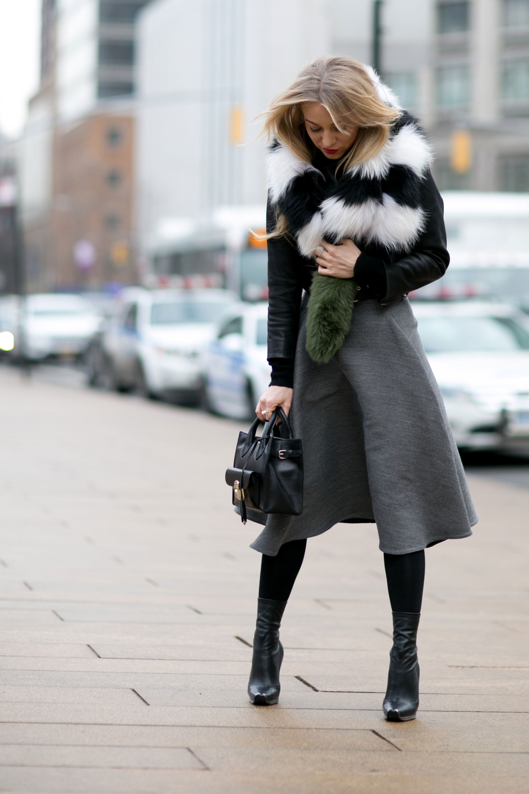 New York Fashion Week Street Style A Suon Di Pelle E Pellicce Eco