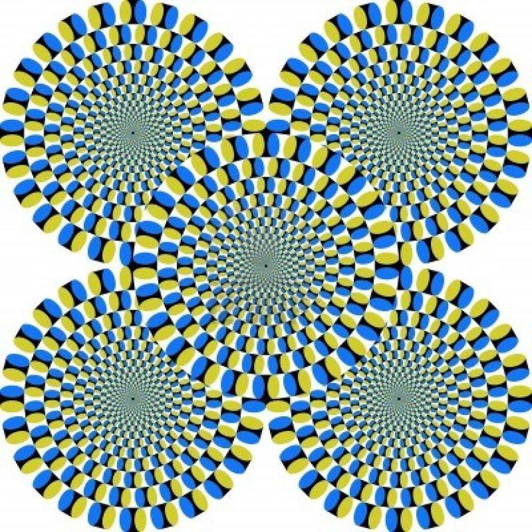 una grafica che sembra muoversi per effetto ottico