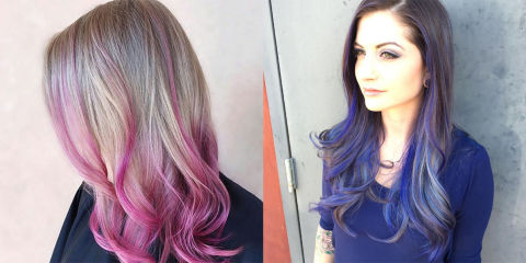 Capelli con punte colorate
