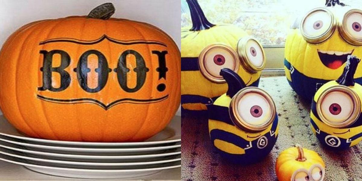Zucche di halloween modi creativi per decorarle senza for Foto zucche halloween