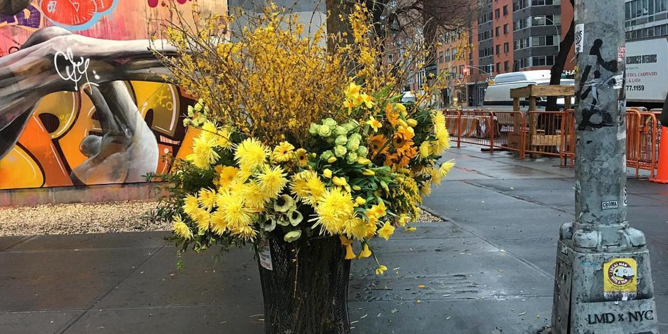 Ecco perch in giro per new york ci sono sculture di fiori for Sculture di fiori